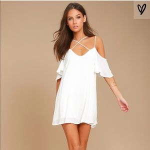 Lulus Afterglow White Shift Dress